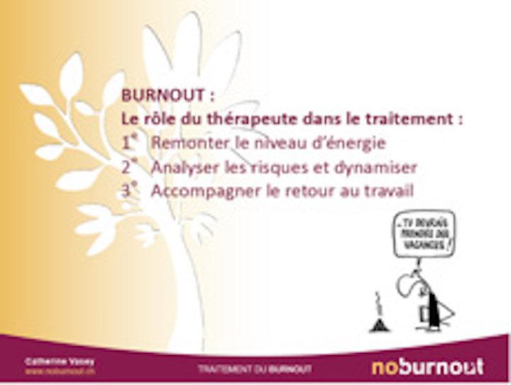 Burnout - Le rôle du thérapeute dans le traitement
